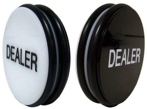Da Vinci Large 3 Inch Double Sided Casino Grade Pro Dealer Button Puck