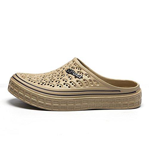 para sandalias Unisex de caqui transpirable zapatos playa caminar hombre de antideslizantes Gaatpot ligeros de zuecos zapatillas color mujer jardín 67HWdw