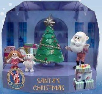 Rudolph the Red-Nosed Reindeer Santa's Christmas Scenic Display PVC Figurine Set (Sets Figurine Reindeer)