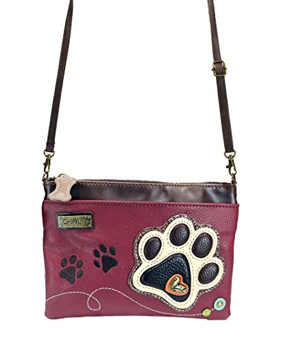 Small Shoulder Multi Chala Pawprint Purse Zipper Strap Mini Adjustable Leather Crossbody Pu Handbag Maroon Ivory pWnA0qW