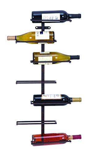 Plutus Brands Modern Hangable Wine Rack with 7 Horizontal Slots from Plutus Brands
