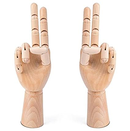 amazon com wooden drawing hand model hand pose doll reference