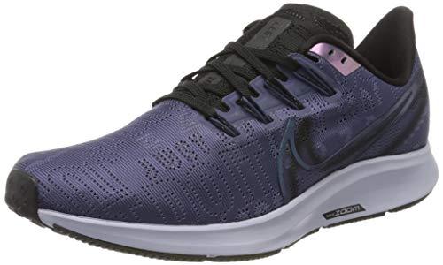Nike Women's Air Zoom Pegasus 36 Premium Rise Running Shoes (6.5, Smoke Blue/Midnight)