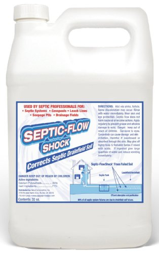 Septic-Flow Septic Drainfield Repair Treatment - Cleans Septic Drainfield and Hardened Soil, Deadpan, Septic tank treatment, Flood Damage, Saturated soil,
