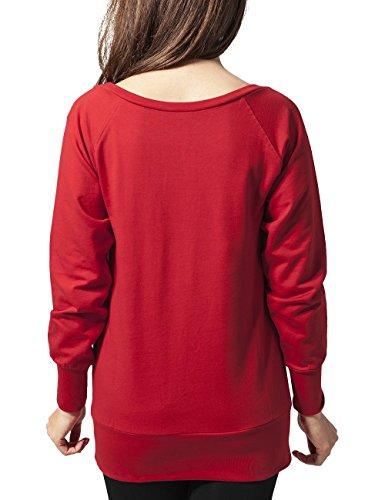 Foulard Urban Classics Pour rouge Crewneck Femme Rouge gwqFCcx0