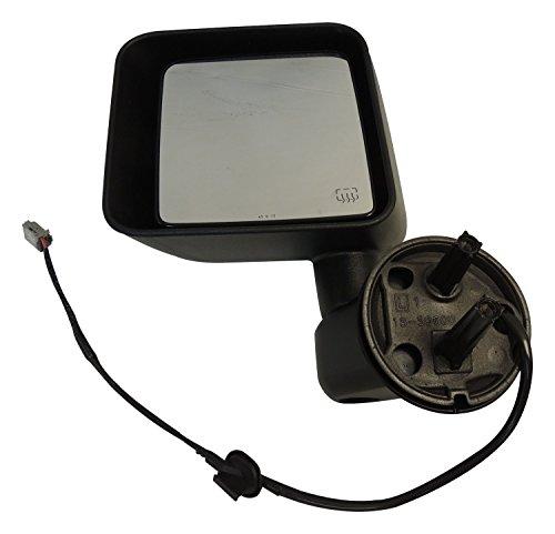 BRIGHTT Compatible for Mirror Left 2011-2013 JK Wrangler; Powered; Heated; Left Side 5182175AA