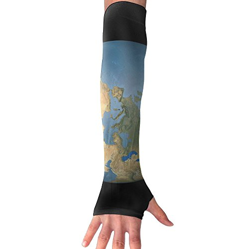 Belgium Extruded On The World Map Rivers And Lakes Shapes Sun Sleeves UV Protection Cooling Arm Sleeves For Men Women by SuBenSM