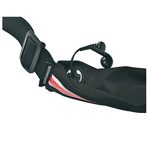 HighTech Sport Marsupio, borsa da cintura tasca pancia piatta, con uscita cuffie, per uomo e donna anche in caso di Attività all' aperto