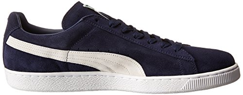 PUMA Men's Suede Classic + Sneaker, Peacoat/White, 9 M US Photo #11