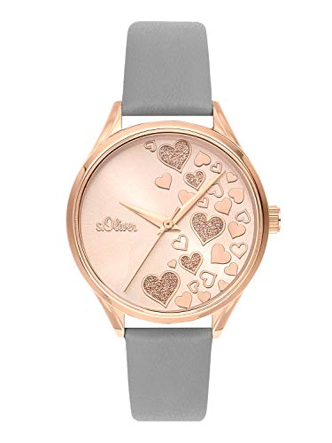 s.Oliver Time Womens Analogue Quartz Watch with Stainless Steel Strap SO-3600-LQ