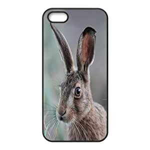 Rabbit Eras IPhone 5,5S Cases Protective Cute for Girls, Case for Iphone 5s for Women [Black]