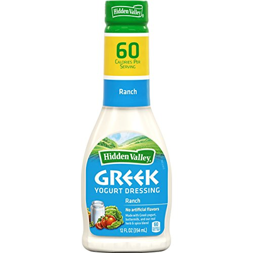 Hidden Valley Greek Yogurt Original Ranch Salad Dressing & Topping, Gluten Free - 12 Ounce (Easy Caesar Salad Dressing)