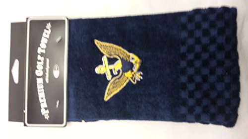 - Team Golf Military Navy Embroidered Golf Towel, Checkered Scrubber Design, Embroidered Logo