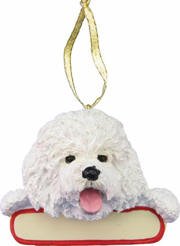 Bichon Frise Dog Santa's Pal Christmas Ornament