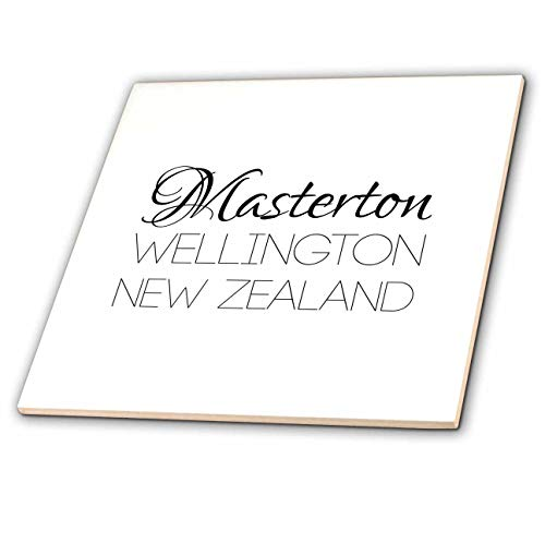 3dRose Alexis Design - New Zealand Cities - Masterton, Wellington, New Zealand. Patriot, Region, Home Town Design - 8 Inch Glass Tile (ct_308534_7) ()