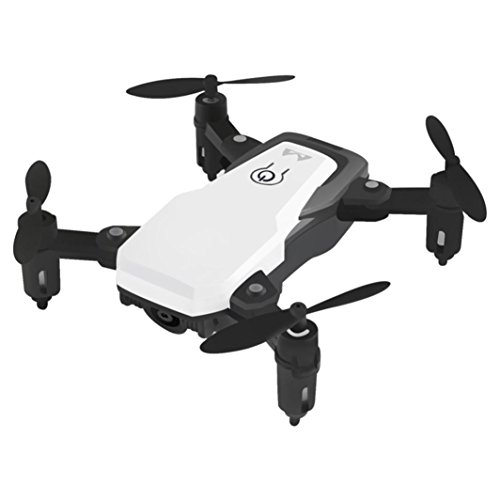 Fiaya Altitude Hold Selfie Drone with 0.3MP HD Camera Wifi RC Toy Helicopter Foldable Selfie Drone Toy for Beginners and Kids (White) by Fiaya