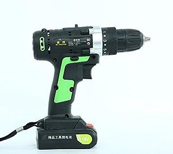 Taladro eléctrico recargable, destornillador eléctrico, herramienta ...
