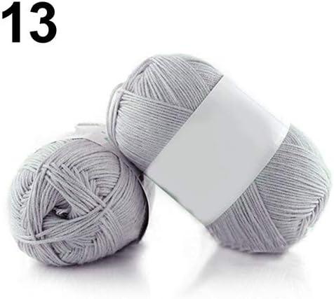 Jiacheng29_ Ovillo de Lana para Tejer de algodón de bambú, 50 g por madeja, 1 Pieza: Amazon.es: Hogar