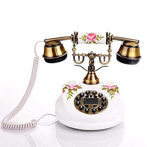 GIOW European Antique Telephones Retro Living Room Bedroom Painted Wood Pastoral landline Business Upscale American Home