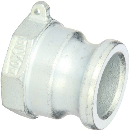 Dixon 150-A-PM Plated Iron Boss-Lock Type A Cam and Groove Hose Fitting, 1-1/2