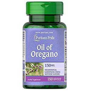 Gut Health Shop 41qmQma8yYL._SS300_ Oil of Oregano by Puritan's Pride®, Contains Antioxidant Properties*, 150mg Equivalent, 180 Rapid Release Softgels