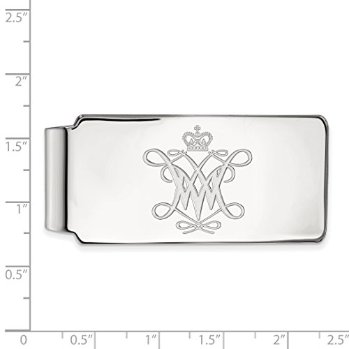 Sterling Licensed Official Mary Clip And Silver William Collegiate LogoArt Money rtqU6rfw4