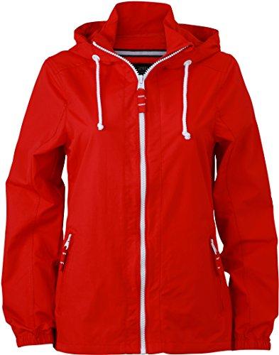 veste vent capuche coupe Rouge hydrofuge Blanc JN1073 Pw6pP