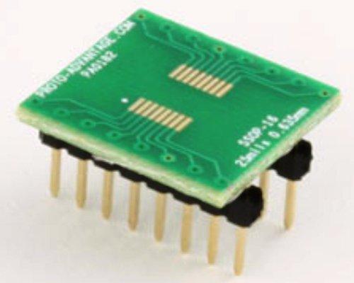 Proto-Advantage SSOP-16 to DIP-16 SMT Adapter (0.635 mm Pitch)