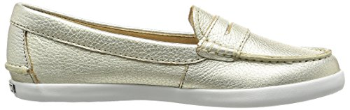 Cole Haan Womens Pizzico Weekender Penny Loafer Morbido Oro / Metallico