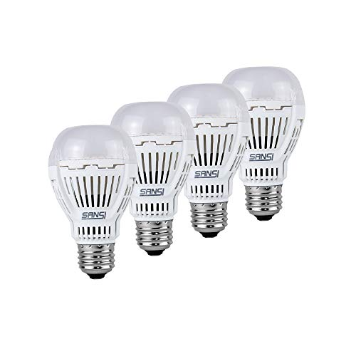 100 Watt Equivalent LED Light Bulbs 4-Pack, 3000K Soft Warm White A19 Bulbs, Super Bright 1600 Lumens E26 Base 13W Light Bulb, 4-Pack, SANSI