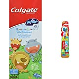 Colgate My First Infant & Toddler Fluoride-Free Toothpaste, Mild Fruit, Age 0-2, 40 mL + Colgate Kids Extra Soft Toothbrush w