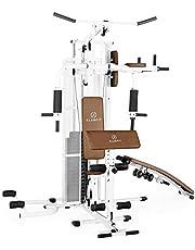 Klarfit Ultimate Gym 5000 - Krachtstation, Multifunctioneel Fitnessstation, Workout voor Hele Lichaam, 30+ Oefeningen, Touwtrekken, Vlindermodule, Beenlus, Incl. Gewichten