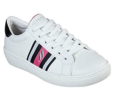 Skechers Street Women's Goldie - Collegiate Cruizers White/Black/Hot Pink 8 B US