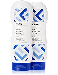Amazon Brand - Solimo Sport Sunscreen Lotion SPF 50, 10.4 Fluid Ounce (Pack of 2)