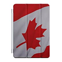 CUSTOM Smart Cover (Magnetic Front Cover / Stand) for Apple iPad Air 2 (2014 Model) - Red White Canadian Flag Canada