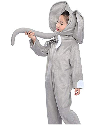 RF Animal Haloween Costume Kawaii Elephant Whole-Body Cosplay for Kids L Size