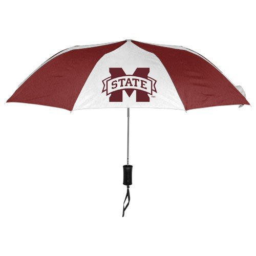 WinCraft NCAA Mississippi State University Auto Folding Umbrella, Black
