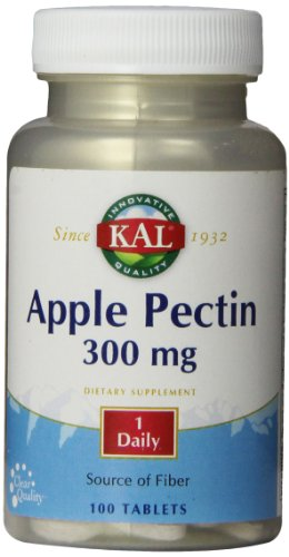 KAL Apple Pectin Tablets, 300 mg, 100 Count