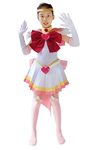 DAZCOS Kids Size Girls Super S Chibi USA Moon Fighting Cosplay Costume (Child L) Pink -