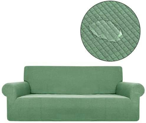 Funda para sofá Impermeable, elástica, de Tela, Antideslizante, con Borde Completo, Cubierta de Forro Polar para sofá de 3 plazas, Protector de Muebles, Azul Claro,: Amazon.es: Hogar