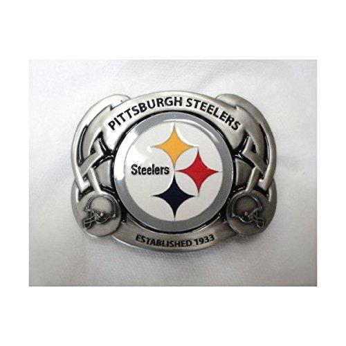 The PITTSBURGH STEELERS NFL FOOTBALL TEAM BELT BUCKLE BY SISKIYOU