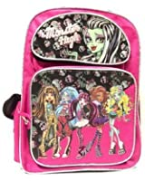 Monster High Fashion Pink Large School Backpack-7294