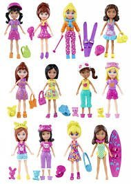POLLY POCKET DOLL WITH ACCESSORIES (# K7704)- 1 doll (Toy Polly)