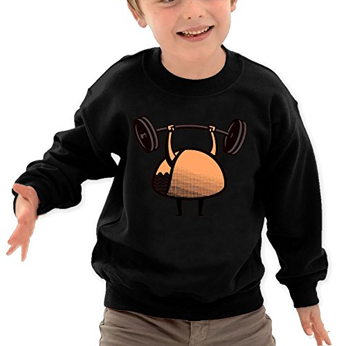Price comparison product image Puppylol Will Lift For Tacos Kids Classic Crew-neck Pullover Hoodie Black 3 Toddler