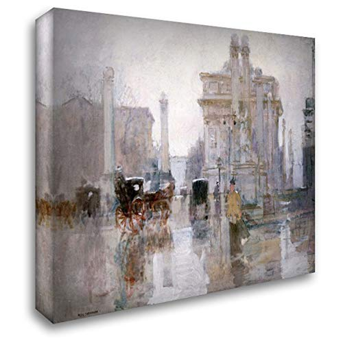 Dewey Arch - After The Rain, The Dewey Arch, Madison Square Park, New York 34x28 Gallery Wrapped Stretched Canvas Art by Cornoyer, Paul