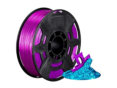 Monoprice Hi-Gloss 3D Printer Filament PLA 1.75mm - 1kg/Spool - Purple, Works with All PLA Compatible 3D Printers