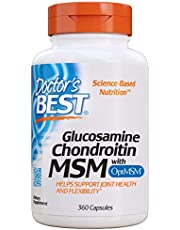 Glucosamine Chondroitin Msm with optimsm, Supports Healthy Joint Structure, Function & Comfort, Non-GMO, Gluten Free, Soy Free, 360 caps