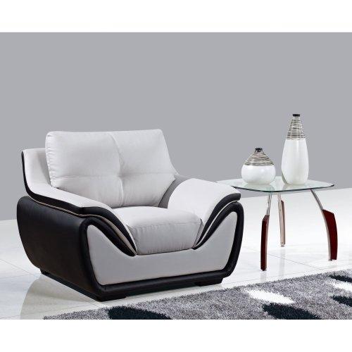 Global Furniture Black Leather (Global Furniture Bonded Leather Matching Chair, Grey/Black)