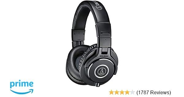 Amazon audio technica ath m40x professional studio monitor amazon audio technica ath m40x professional studio monitor headphones black musical instruments greentooth Images