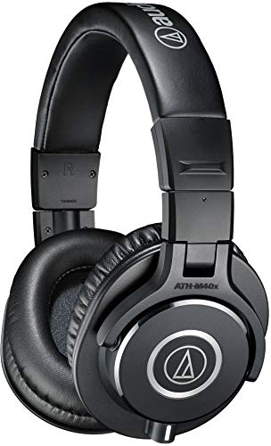 Audio-Technica ATH-M40X – Auriculares de diadema cerrados (40 mm, jack 3.5 mm, plegable), color negro